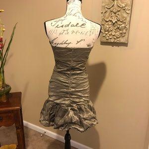 BCBGMaxAzria Dresses - BCBGMAXAZRIA Metallic Ruched Cocktail Dress. SZ S